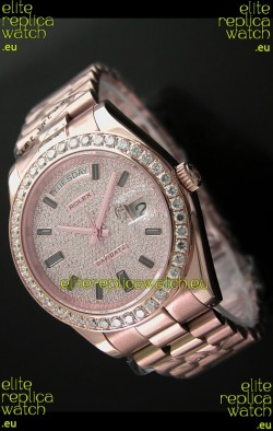 Rolex Day Date Swiss Automatic Rose Gold Watch
