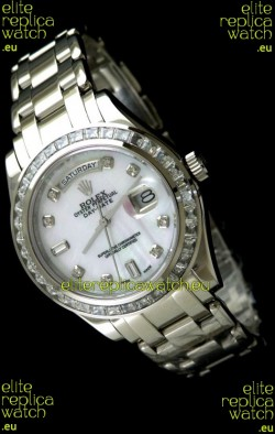 Rolex Oyster Perpetual Day Date Swiss Automatic Watch in Mop White Dial