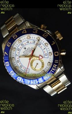 Rolex Replica Yachtmaster II Swiss Watch Two Tone Yellow Gold - 1:1 Mirror Replica Watch