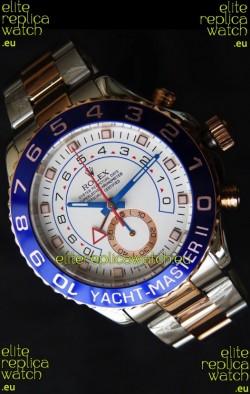 Rolex Replica Yachtmaster II Swiss Watch Two Tone Rose Gold - 1:1 Mirror Replica Watch
