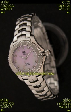 Tag Heuer Link Swiss Ladies Watch in Pink Dial