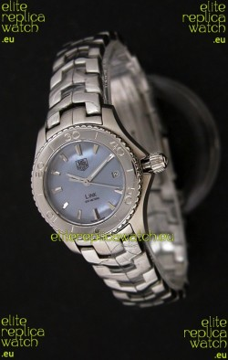 Tag Heuer Link Swiss Ladies Watch in Mother of Pearl Blue Dial