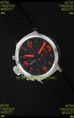 U-Boat Flightdeck Watch in Black Dial