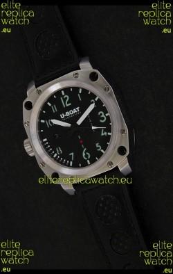 U-Boat Thousands of Feet Steel Watch in Black Dial