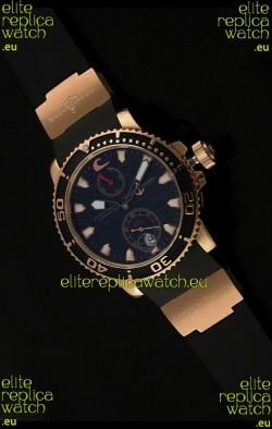 Ulysse Nardin No.270 Swiss Watch in Black Wave Dial