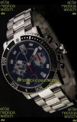 Ulysse Nardin Maxi Marine Swiss Watch in Black Dial