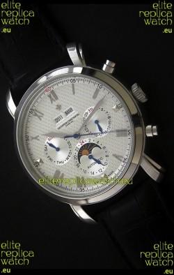 Vacheron Constantin Perpetual Calendar Japanese Watch in Silver