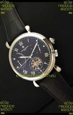 Vacheron Constantin Reserve Tourbillon Japanese Replica Watch in Black Dial