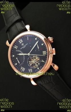 Vacheron Constantin Reserve Tourbillon Japanese Replica Watch in Rose Gold