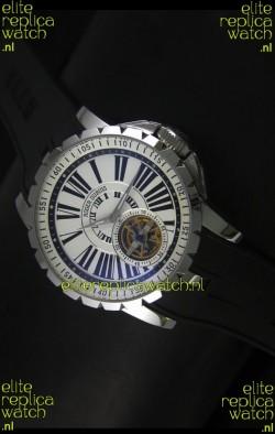 Roger Dubuis Excalibur Tourbillon Watch Japanese Movement - White Dial