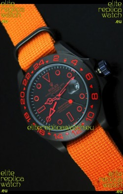 Rolex Explorer II Bamford Stealth and Flame Edition Navy Nylon Strap Replica Watch