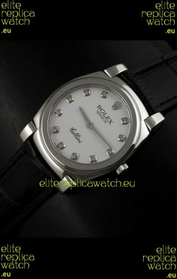 Rolex Cellini Japanese Replica Watch with Diamond Hour Markers
