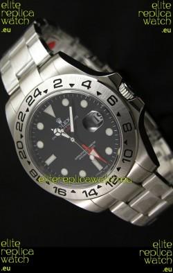 RolexExplorer II Swiss Replica Automatic Black Steel Watch 43MM