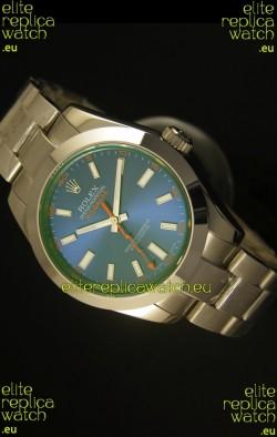Rolex Milgauss 116400GV Swiss Watch with Blue Dial