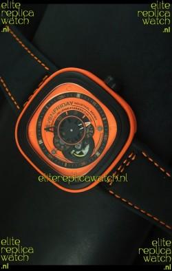 SevenFriday P-32 Black and Orange with Original Miyota 82S7 Movement - 1:1 Mirror Quality
