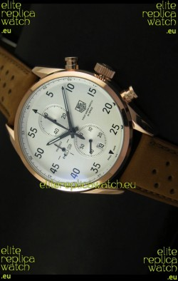 Tag Heuer Carrera 1887 SpaceEX Edition Japanese Quartz Watch in Pink Gold