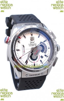 Tag Heuer Grand Carrera Calibre 36 Japanese Automatic Watch in White Dial