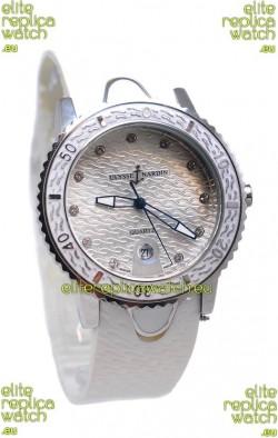 Ulysse Nardin Lady Diver Starry Night Replica Silver Watch