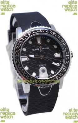 Ulysse Nardin Lady Diver Starry Night Replica Watch in Black Dial