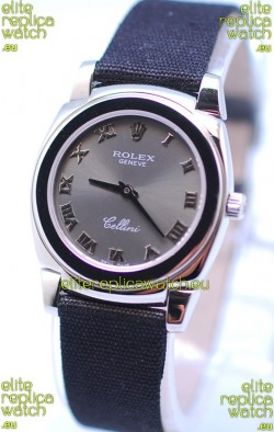 Rolex Cellini Cestello Ladies Swiss Watch in Grey Silver Face