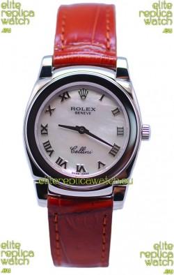 Rolex Cellini Cestello Ladies Swiss Replica Watch in Pearl Dial