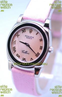 Rolex Cellini Cestello Ladies Swiss Pink Watch in Roman Markers