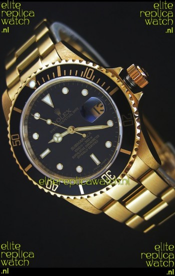 Rolex Submariner 16618 Gold Replica 1:1 Watch with Swiss 3135 Movement