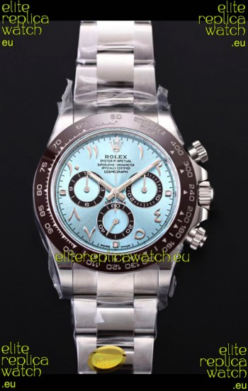 Rolex Daytona 116506 ICE BLUE ARAB Numerals Dial Cal.4130 Movement - Ultimate 904L Steel Watch