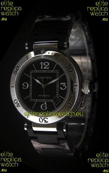 Cartier Pasha de Swiss Replica Watch in Black Dial