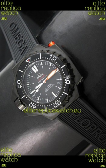 Omega Seamaster Ploprof Swiss Watch in Black Strap
